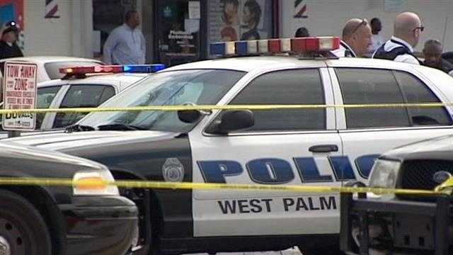 One person was shot dead in front of a gas station Tuesday afternoon in West Palm Beach.