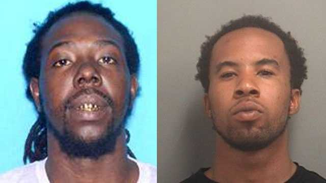 Police say Richard Thomas Jr. (left) and Warren Dye were involved in a shootout that injured a 2-year-old girl.