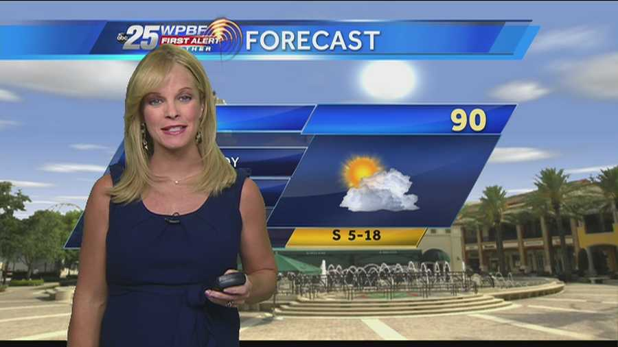 Sandra Shaw says there could be a few showers today, but the heat is a certainty.
