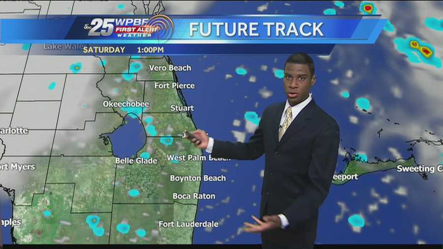 Justin says to expect a typical summer day in South Florida, with high humidity and temperatures around 90 degrees.