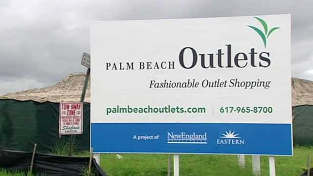 The Palm Beach Outlets is slated to open in 2014.