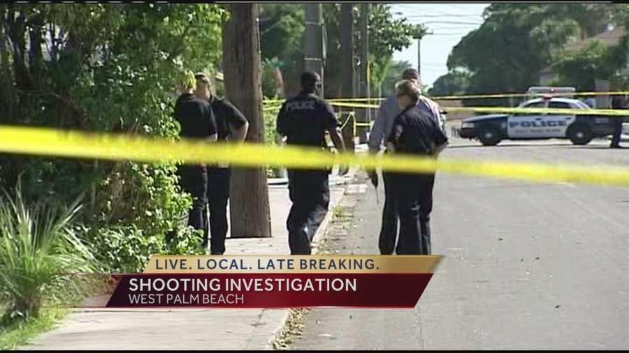 Police are investigating two shootings about an hour apart in West Palm Beach.