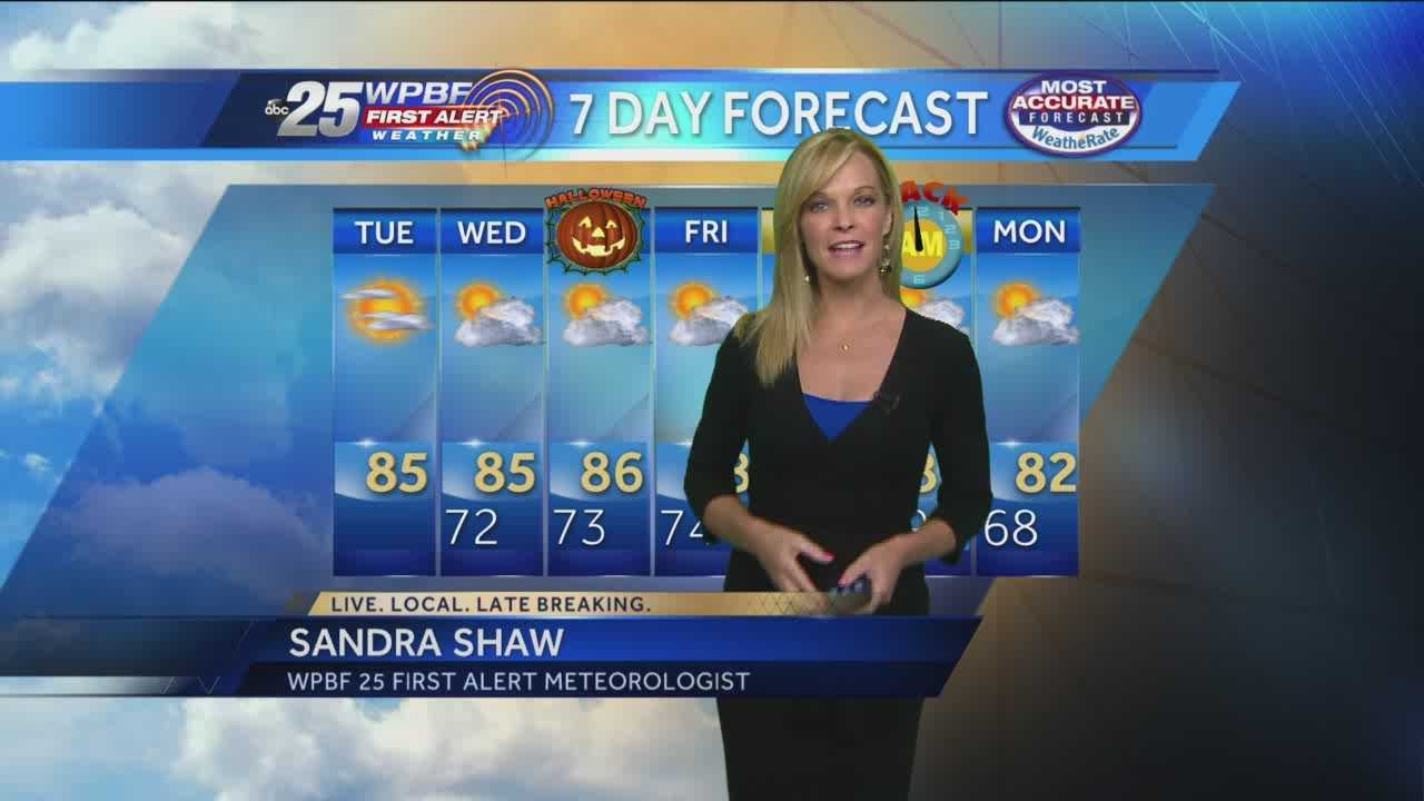 Sandra says more hot weather is on tap around the Palm Beaches and Treasure Coast this week.