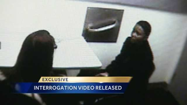 The interrogation video was released Wednesday of a woman accused of shooting and killing her husband.