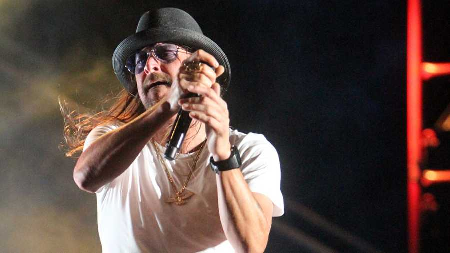 This time of year, Kid Rock is a staple at Kentucky Derby parties in Louisville, but that didn't keep him from owning the waterfront at Sunfest on opening night Wednesday. Take a look at some photos from his performance. (All Photos: John P. Wise/WPBF)