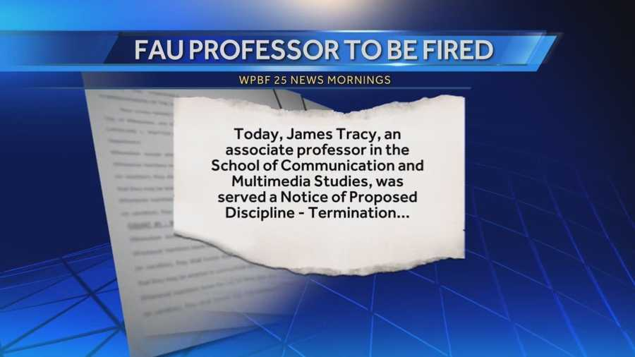 Controversial FAU profession to be fired