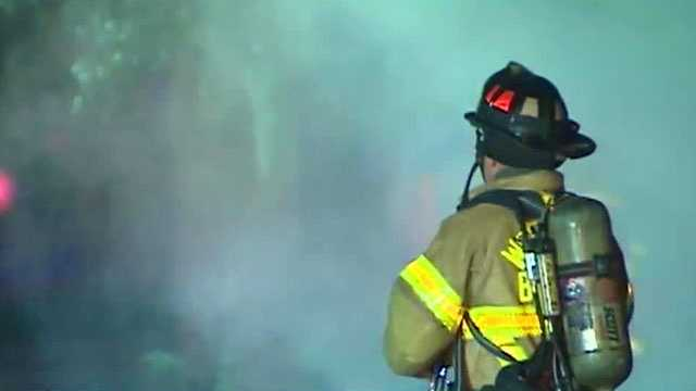Fire officials are investigating after a fire tore through five homes overnight in West Palm Beach.