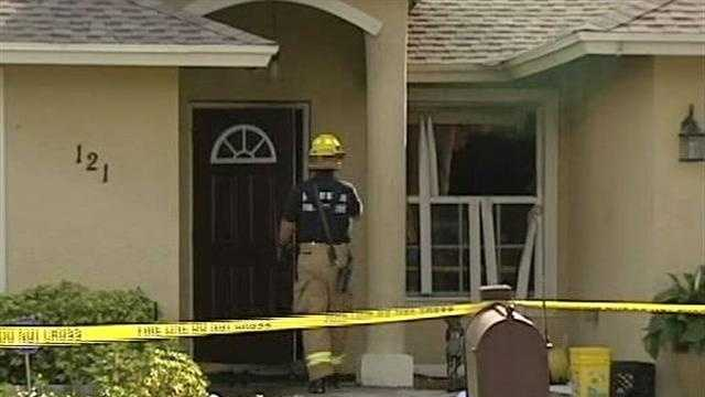 Police say Emile Scott Jr. set his wife's house on fire in Delray Beach.