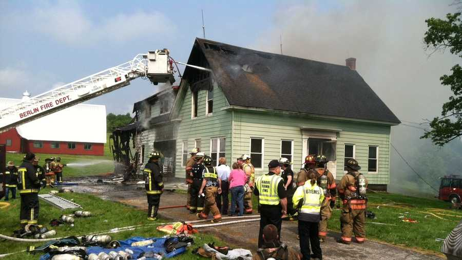 A home on Allen Street in Barre, Vermont burned Tuesday morning.