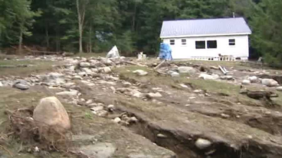 Tropical Storm Irene damaged hundreds of homes and properties in August 2011.