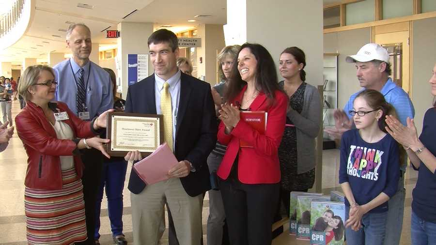 A 12-year-old Vergennes girl stops by a local hospital to give thanks to the doctors who saved her life last summer.