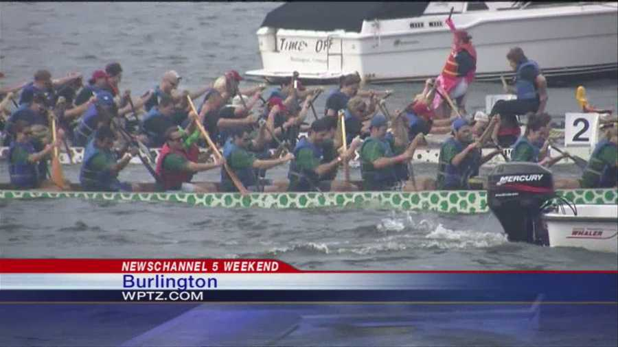 The eighth annual Dragon Boat Festival took to Lake Champlain on Sunday, raising money for breast cancer survivors and wellness programs.