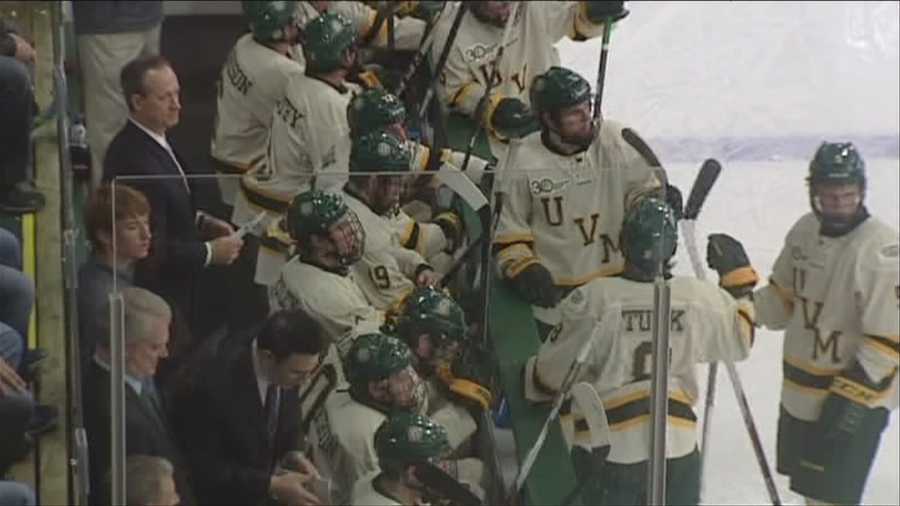 Catamount hockey ready themselves for Union college, in NCAA tournament.
