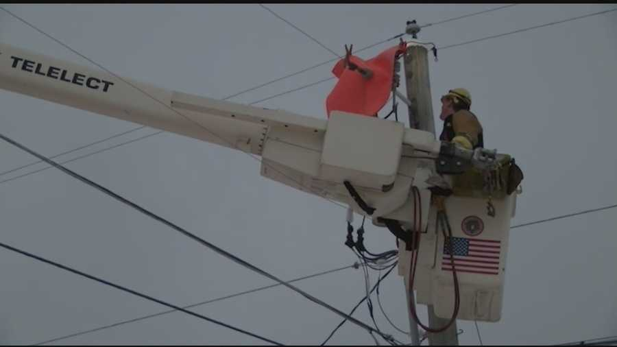 Getting the power back on is proving to be a daunting task for power crews.