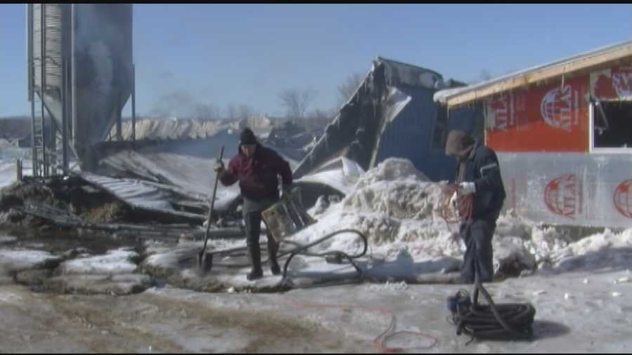 Eighteen fire departments fight flames in subzero temperatures