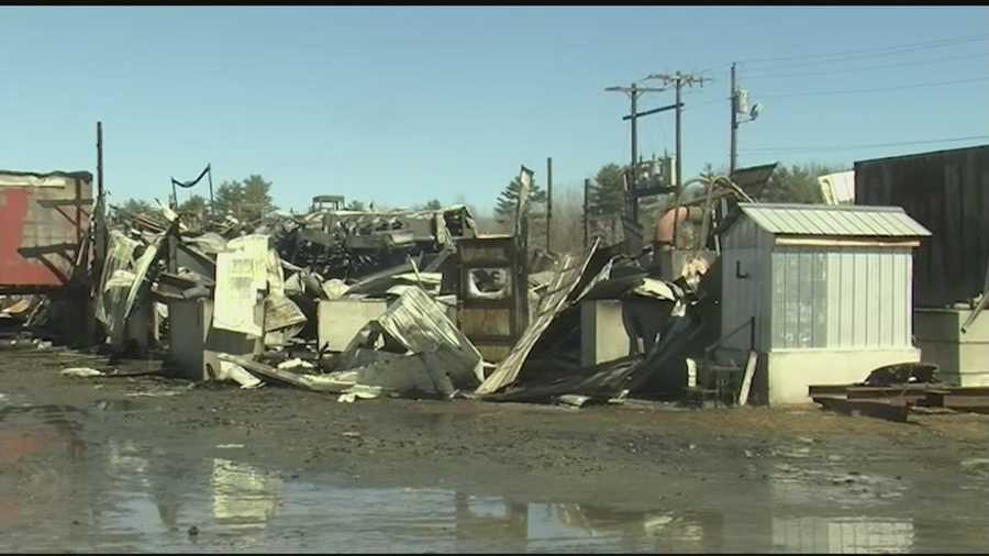 A fire destroyed the sawmill building at Britton Lumber in Fairlee on Saturday night. The cause is under investigation.