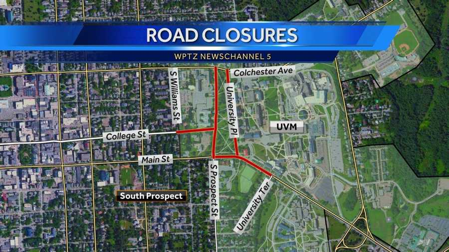 Map of Friday through Sunday closures