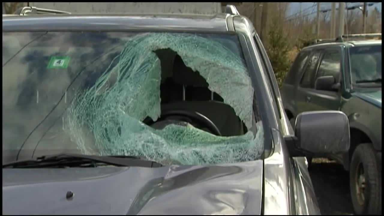 A 73-year-old Vermont woman is recovering from severe facial injuries suffered when a chunk of flying ice that witnesses said broke off the roof of a tractor trailer smashed through her SUV's windshield as she drove on Route 2 in South Hero Saturday.