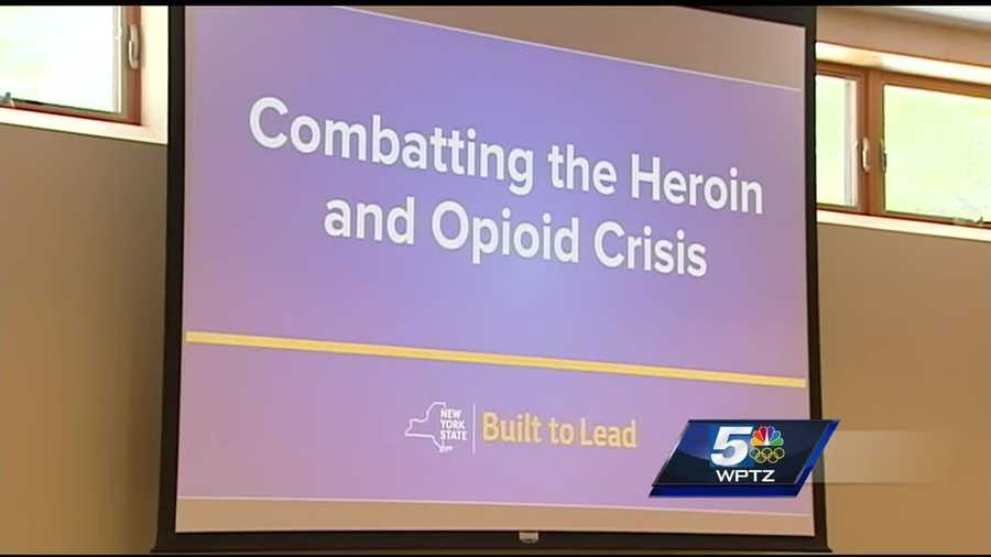 Nine people from New York state's heroin and opioid task force were in Lake Placid to listen to recommendations on how to combat the heroin epidemic.