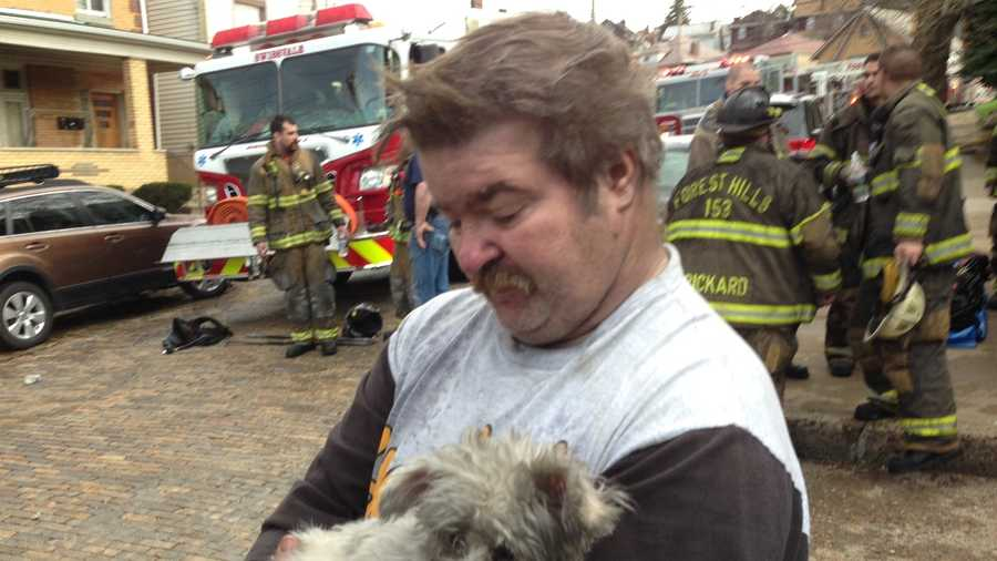 Dan Lane tried to save his mother, Shirley, from the house fire in Swissvale but was unable to reach her. The woman's dogs made it out safely.