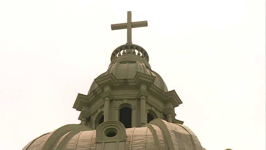 When storms moved through Pittsburgh on Tuesday night, the cross on top of Immaculate Heart of Mary Church in Polish Hill was struck, and the priest said smoke started billowing out as if it were a conclave.