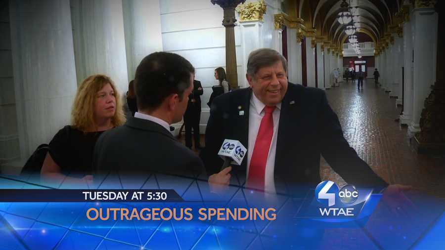 Outrageous spending in Harrisburg.  WTAE goes face to face with the politicians spending your tax dollars.