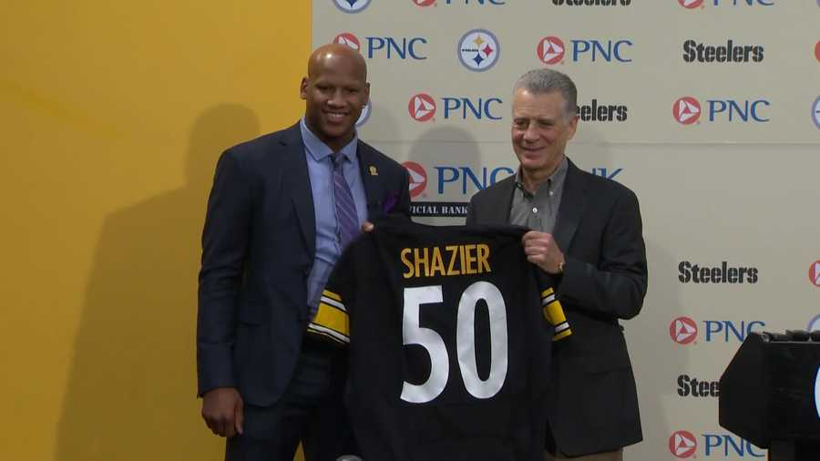 Ryan Shazier and Steelers president Art Rooney II