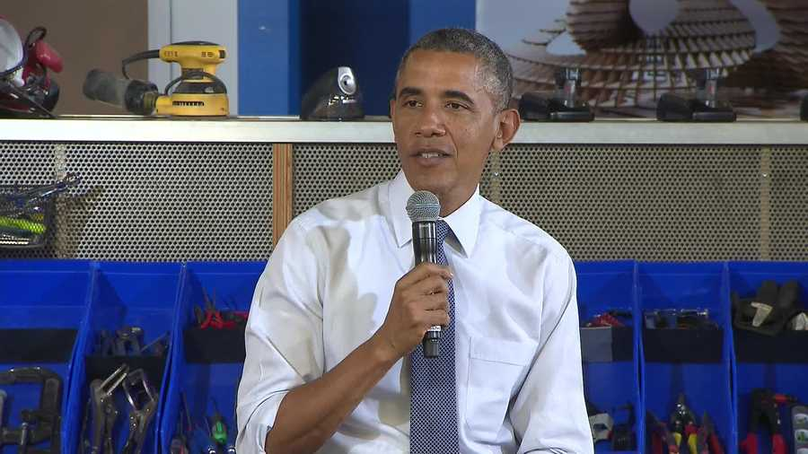 President Barack Obama at TechShop in Bakery Square