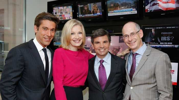 (6/25/14) ABC News today announced new roles for anchors Diane Sawyer, George Stephanopoulos and David Muir. Sawyer will lead new programming tackling big issues and extraordinary interviews. Stephanopoulos, Anchor of Good Morning America and This Week, has been promoted to Chief Anchor of ABC News, handling special reports and breaking news. Muir, Anchor of 20/20, will become Anchor and Managing Editor of World News starting September 2., 2014. (LEFT TO RIGHT: DAVID MUIR, DIANE SAWYER, GEORGE STEPHANOPOULOS, & JAMES GOLDSTON)