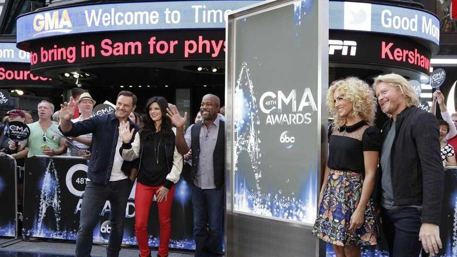 "The nominees for 48th Country Music Association Awards were announced live by Darius Rucker and the members of Little Big Town on ""Good Morning America,"" 9/3/14, airing on the Pittsburgh's WTAE Channel 4.."