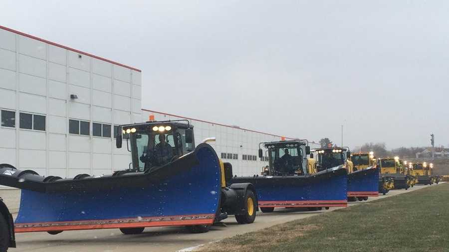Snow plows at Pittsburgh International Airport