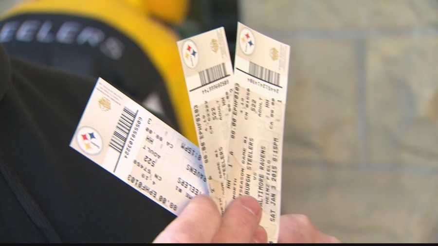 Three tickets to the Steelers-Ravens postseason game.