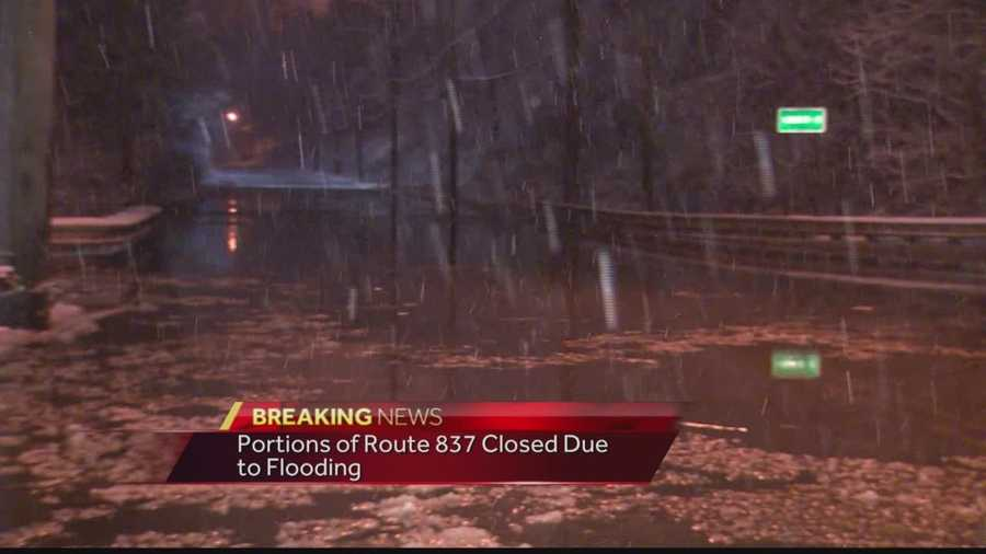 Pittsburgh's Action News 4's Michelle Wright has the latest on the closure of portions of Route 837 due to flooding on Thursday morning.