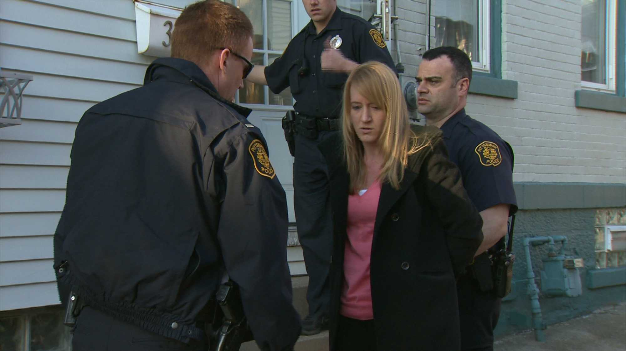 Geraldine Alcorn was arrested by police at her Bloomfield home.