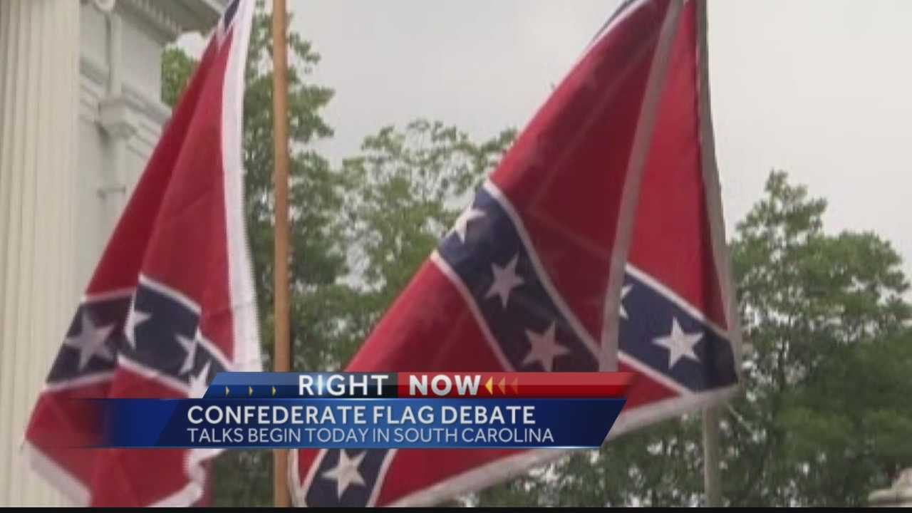 Pittsburgh's Action News 4's Jackie Cain has the latest on the debate taking place today in South Carolina over the flying of the Confederate Flag.