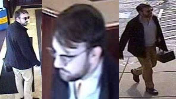 The FBI, Allegheny County police and Homestead police are asking for help identifying and locating a man they say robbed a bank in the Waterfront area of Homestead Tuesday morning.