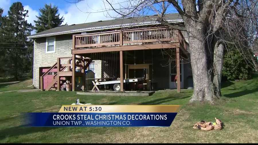Pittsburgh's Action News 4's Ashlie Hardway reports from Union Township in Washington County, where thieves have removed a family's holiday decorations right off their lawn.