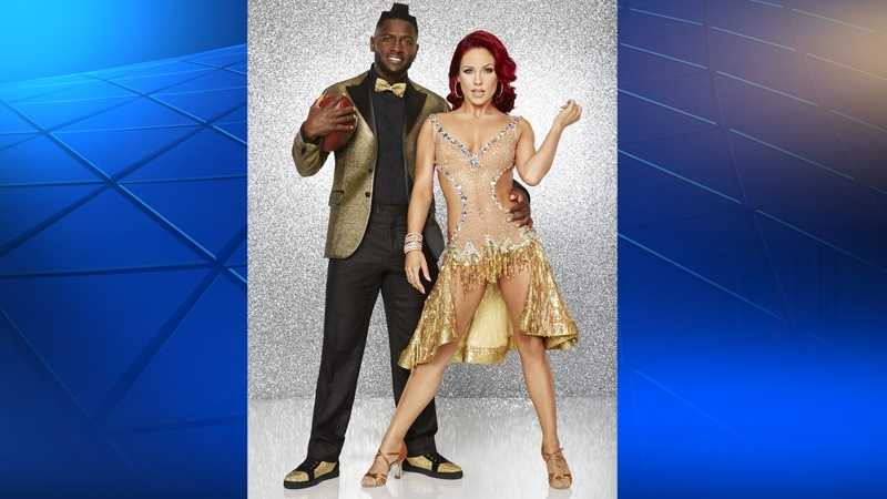 Antonio Brown with pro dancing partner Sharna Burgess.