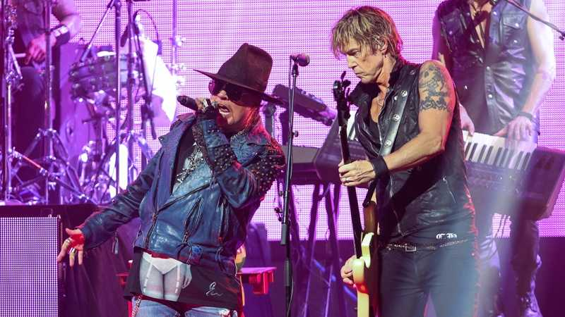 Axl Rose and Duff McKagan