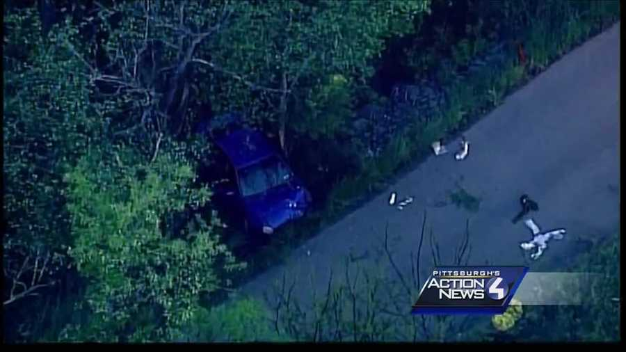 Three people were injured, with two being ejected from their car, after a police pursuit ended with a crash in Cross Creek Township early Tuesday morning.