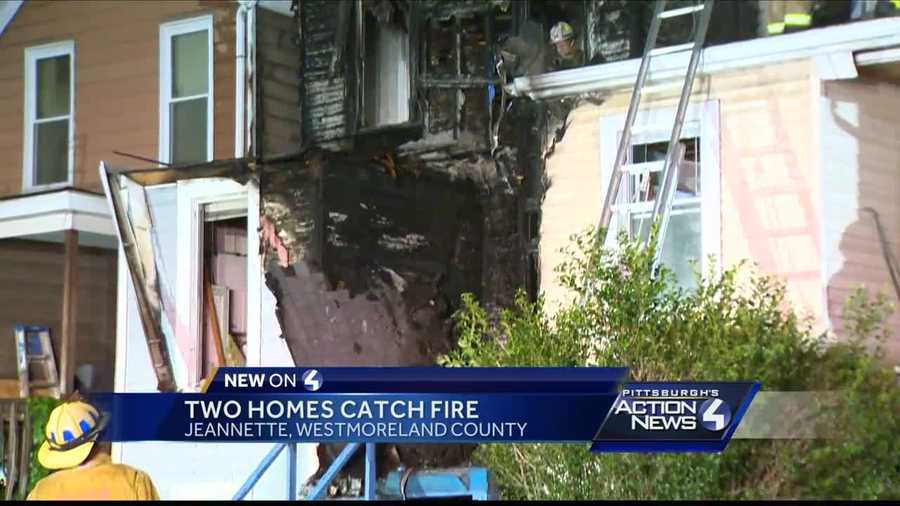 No one injured when fire damages two homes in Jeannette, Westmoreland County