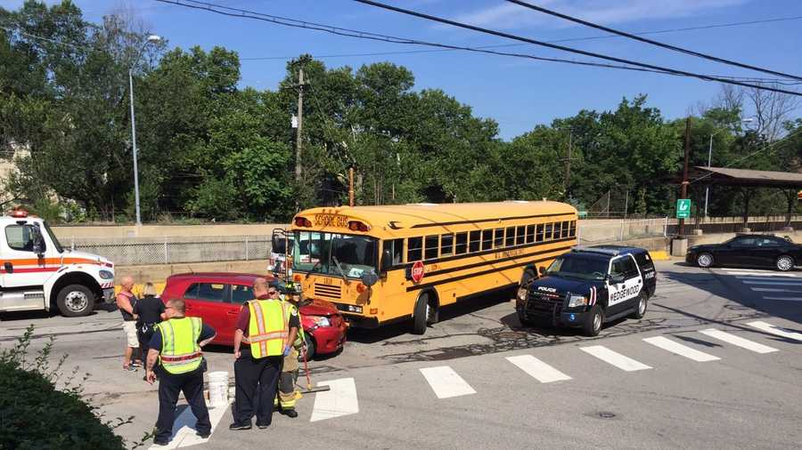 A school bus was involved in a crash in Edgewood Tuesday morning.