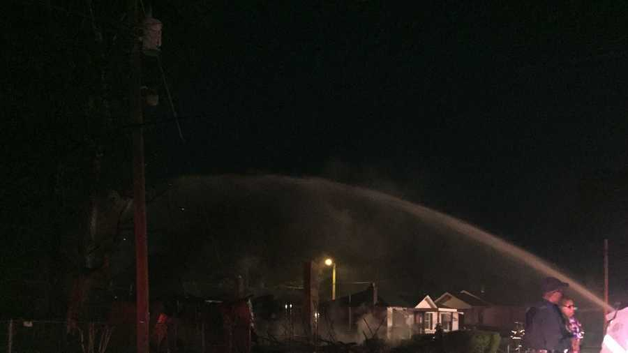 The fire started around 3 a.m. Tuesday on 3rd Street South.