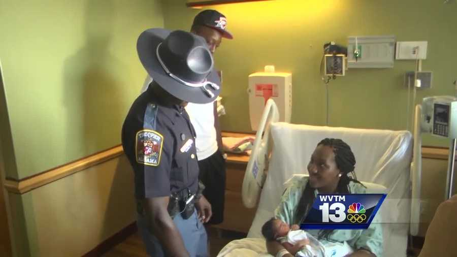 An Alabama State Trooper was hailed as a hero after delivering a baby on the side of the interstate Thursday.