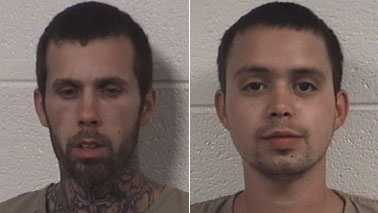 David Martin Jr., left, and Jason Jones, right (Rockingham Co. Sheriff's Office)