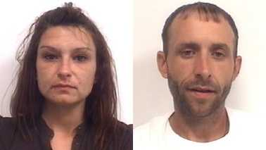 Tarina Sparks, left, and Michael Johnson Jr., right (Davidson County Sheriff's Office)