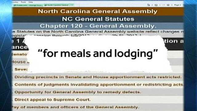NC Lawmakers collecting $104 dollar a day per diem even when they are absent; WXII's Bill O'Neil reports on who and how much each lawmaker has collected at the NC taxpayers expense.
