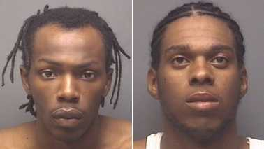 Quatez Scott and Isaac Spencer (High Point police)