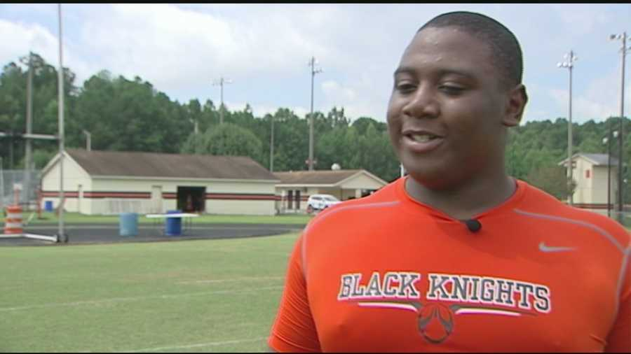 WXII's Sports Director Kenny Beck introduces us to a North Davidson player who's awfully hard to miss.