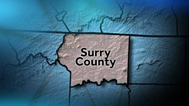 Surry County map